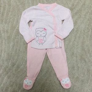 NWOT Just one you - owl set with footie pants!